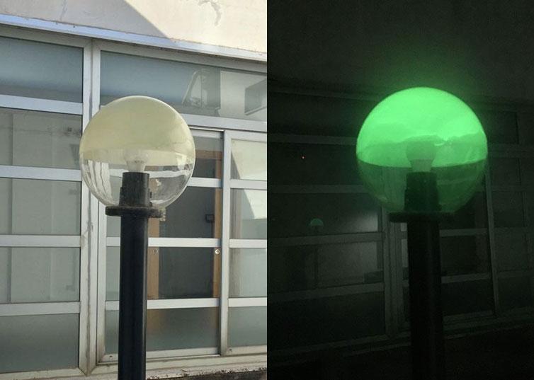 Fotoluminescenza Lampione Di Notte